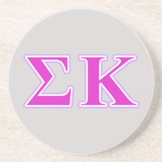 Sigma Kappa Lavender and Pink Letters Coaster