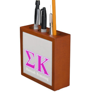 Sigma Kappa Lavender and Pink Letters Desk Organisers