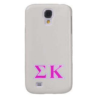 Sigma Kappa Lavender and Pink Letters Galaxy S4 Case