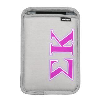 Sigma Kappa Lavender and Pink Letters iPad Mini Sleeve