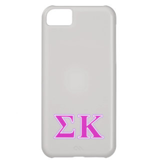 Sigma Kappa Lavender and Pink Letters iPhone 5C Case