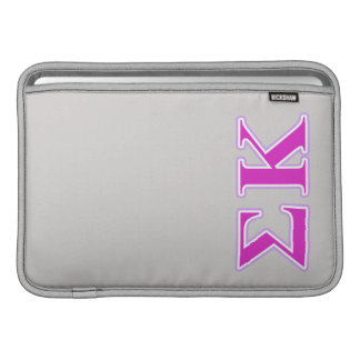 Sigma Kappa Lavender and Pink Letters MacBook Sleeve