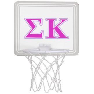 Sigma Kappa Lavender and Pink Letters Mini Basketball Hoop