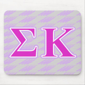 Sigma Kappa Lavender and Pink Letters Mouse Pad