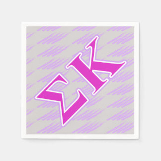 Sigma Kappa Lavender and Pink Letters Paper Napkin