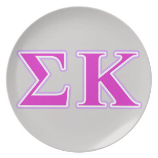 Sigma Kappa Lavender and Pink Letters Plate