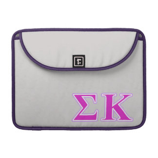 Sigma Kappa Lavender and Pink Letters Sleeve For MacBooks