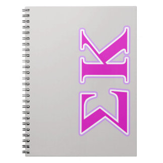 Sigma Kappa Lavender and Pink Letters Spiral Notebook