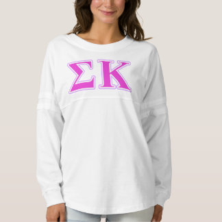 Sigma Kappa Lavender and Pink Letters Spirit Jersey