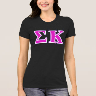 Sigma Kappa Lavender and Pink Letters T-Shirt