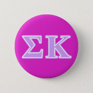Sigma Kappa Lavender Letters 6 Cm Round Badge