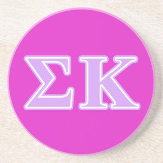 Sigma Kappa Lavender Letters Coaster