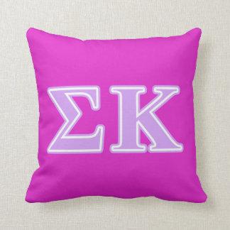 Sigma Kappa Lavender Letters Cushion