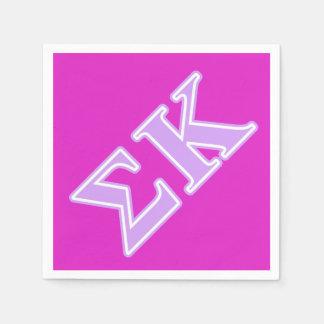 Sigma Kappa Lavender Letters Disposable Serviette