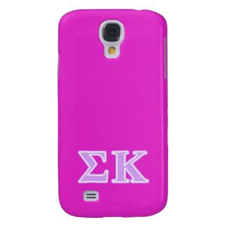 Sigma Kappa Lavender Letters Galaxy S4 Case