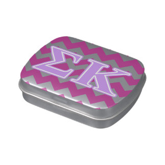 Sigma Kappa Lavender Letters Jelly Belly Tin