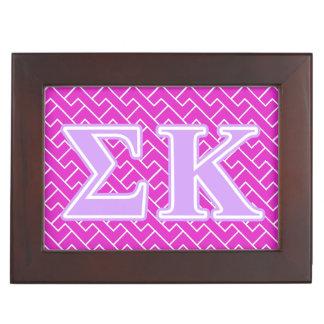 Sigma Kappa Lavender Letters Keepsake Boxes