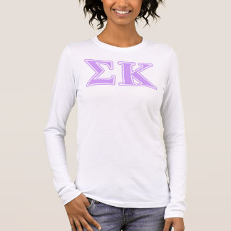Sigma Kappa Lavender Letters Long Sleeve T-Shirt