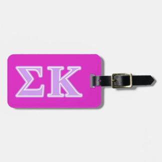 Sigma Kappa Lavender Letters Luggage Tag
