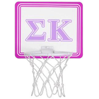 Sigma Kappa Lavender Letters Mini Basketball Hoop