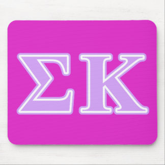 Sigma Kappa Lavender Letters Mouse Pad