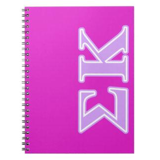 Sigma Kappa Lavender Letters Notebooks