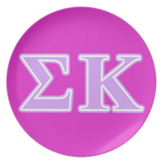Sigma Kappa Lavender Letters Plate