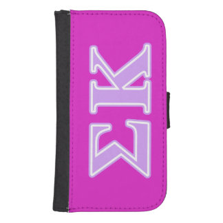 Sigma Kappa Lavender Letters Samsung S4 Wallet Case