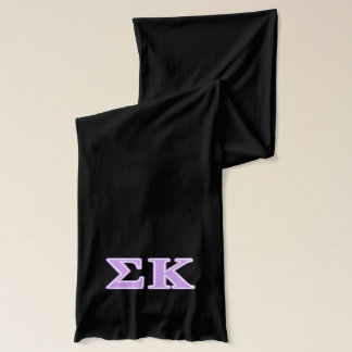 Sigma Kappa Lavender Letters Scarf