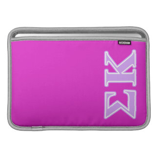 Sigma Kappa Lavender Letters Sleeve For MacBook Air
