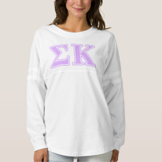 Sigma Kappa Lavender Letters Spirit Jersey