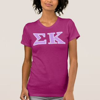 Sigma Kappa Lavender Letters T-Shirt