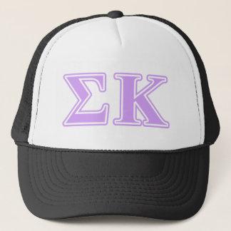 Sigma Kappa Lavender Letters Trucker Hat