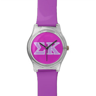 Sigma Kappa Lavender Letters Watch