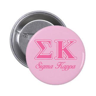 Sigma Kappa Light Pink Letters 6 Cm Round Badge