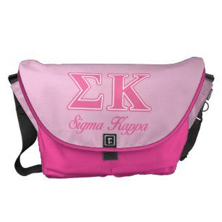 Sigma Kappa Light Pink Letters Commuter Bag