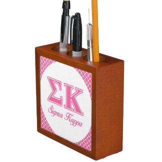 Sigma Kappa Light Pink Letters Desk Organiser
