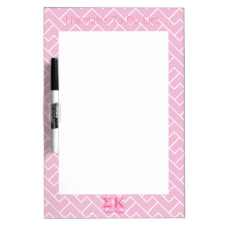 Sigma Kappa Light Pink Letters Dry Erase Board