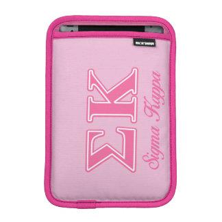 Sigma Kappa Light Pink Letters iPad Mini Sleeve
