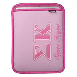 Sigma Kappa Light Pink Letters iPad Sleeve