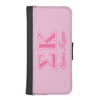 Sigma Kappa Light Pink Letters iPhone SE/5/5s Wallet Case