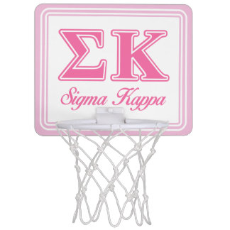 Sigma Kappa Light Pink Letters Mini Basketball Hoop