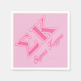 Sigma Kappa Light Pink Letters Paper Napkin