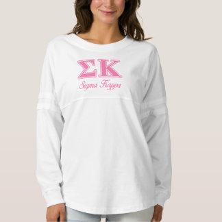 Sigma Kappa Light Pink Letters Spirit Jersey