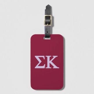 Sigma Kappa Lil Big Logo Luggage Tag