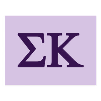 Sigma Kappa Lil Big Logo Postcard