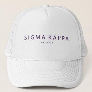 Sigma Kappa Modern Type Trucker Hat