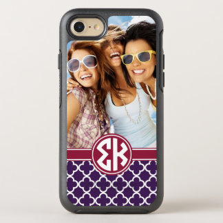 Sigma Kappa | Monogram and Photo OtterBox Symmetry iPhone 8/7 Case