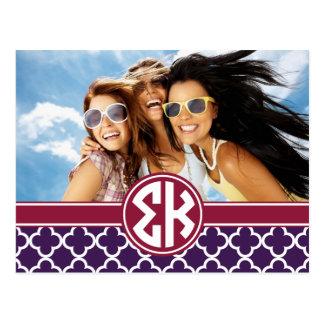 Sigma Kappa   Monogram and Photo Postcard