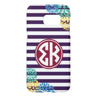 Sigma Kappa | Monogram Stripe Pattern